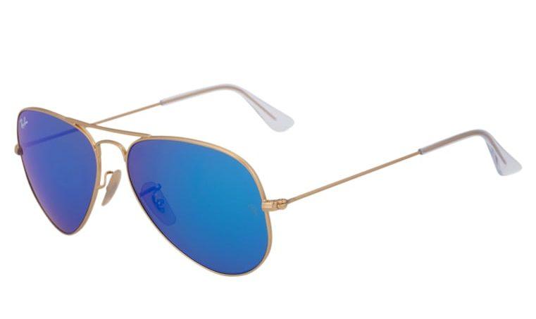 Ray-Ban AVIATOR - Okulary przeciwsłoneczne - blue/gold coloured